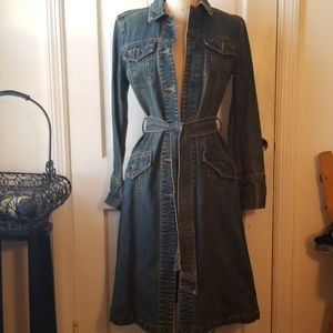 Gap vintage denim trench long